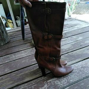 Guess Stacked Heel Boots